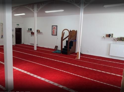 Mosquée Eden, La Louvière - intérieur, pupitre (anc.Temple Antoiniste)