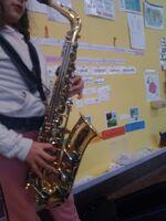 Présentation d'un instrument : saxophone de Lyra