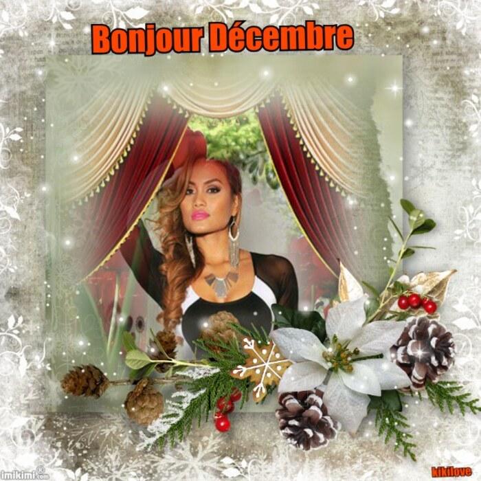 Novembre a fermé bonjour Décembre mois féerique