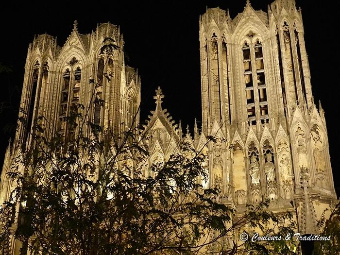 Cathédrale de Reims - En nocturne