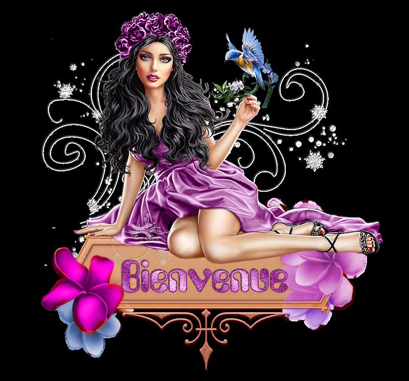 Bienvenue et Merci de votre visite en violet