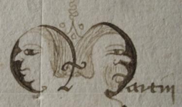 Initiales ornementées du cartulaire de l'abbaye Notre Dame d'Oigny