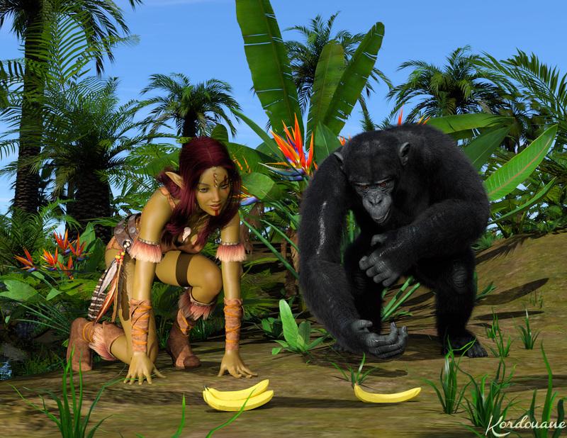 Fond d'écran : Oh des bananes !!