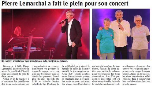 Article du Dauphiné Libéré du vendredi 19 avril