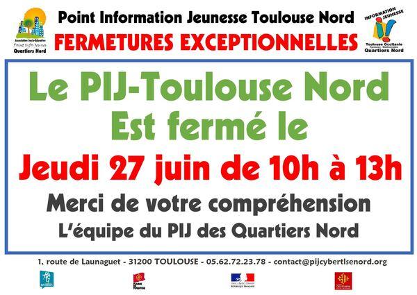 Les Horaires d'Ouverture du PIJ - Cyber-base de Toulouse Nord