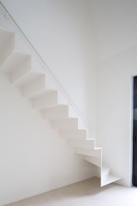 Slim white stair