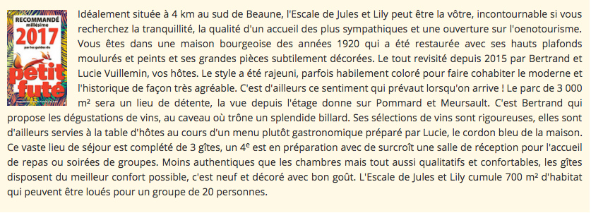L'escale de Jules & Lily