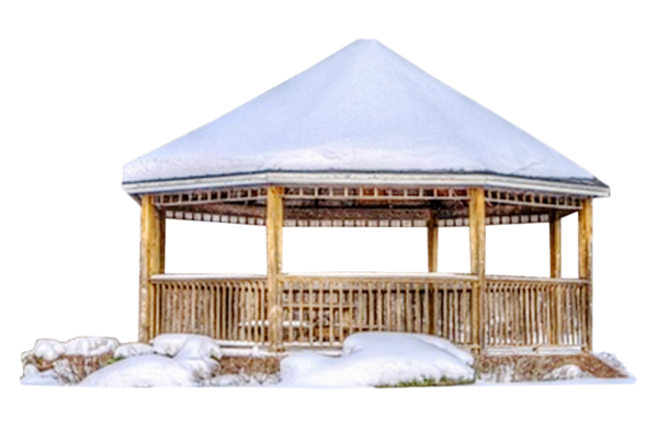 Tube kiosque en hiver