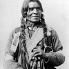A plains man. Photo from 1895-1900 by F.A. Rinehart.