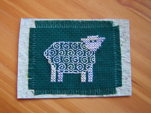 Des moutons en blackwork