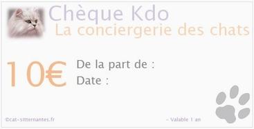 Chèque cadeau services garde animaux sur Nantes