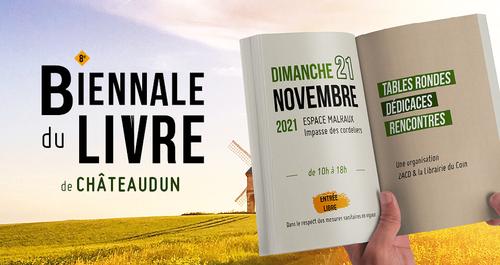 La 8e biennale du livre de Châteaudun sera organisée le dimanche 21 novembre 2021