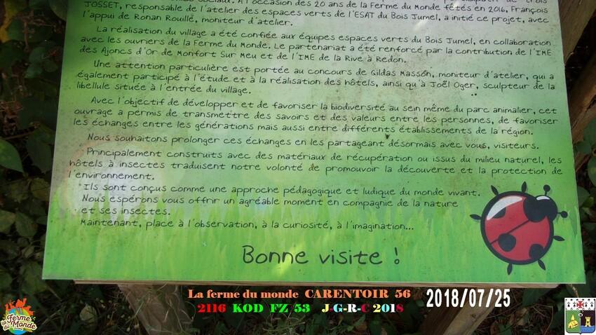 FERME DU MONDE CARENTOIR 56  4/4      D 31/08/2018