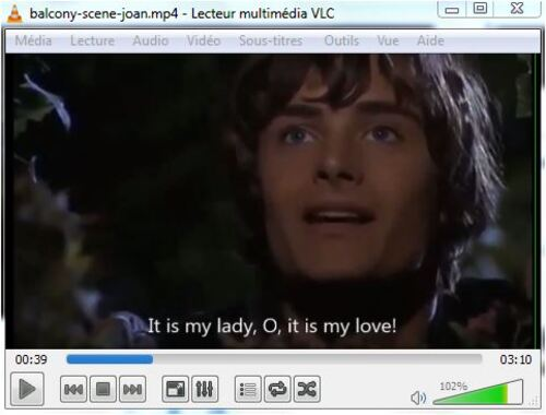 Romeo and Juliet: the balcony scene