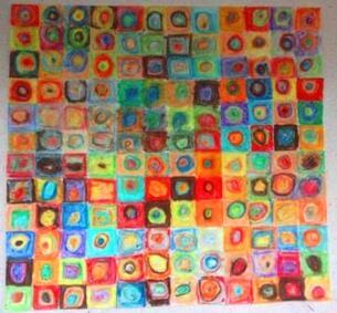 Cercles concentriques de W. Kandinsky