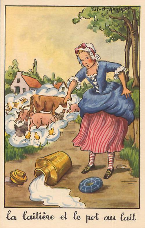 Françoise et le pot au lait, février 1957