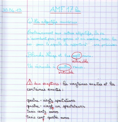 AMF17 Rappels Orthographe grammaticale