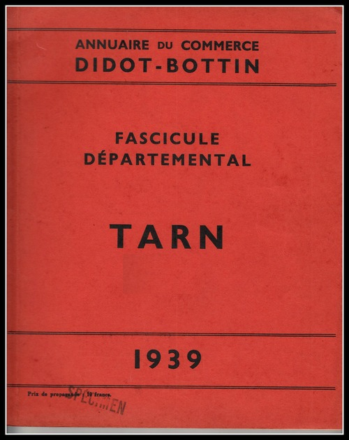 - BOTTIN du Commerce  1939