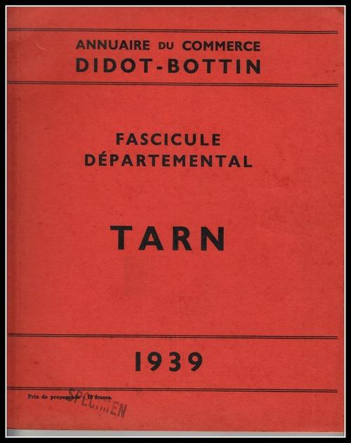 - BOTTIN du Commerce  1939