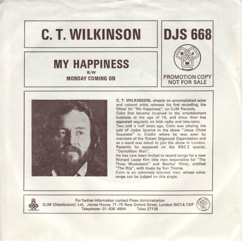 Pochette vinyl - 1976 My Happiness - Monday Coming On