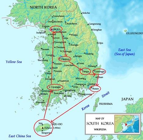 Un petit tour en Corée du sud