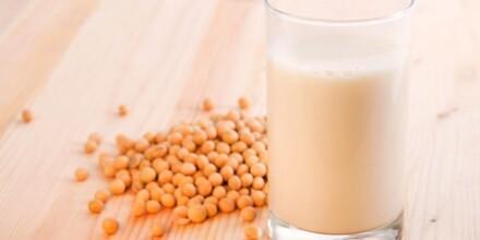 Soja, graines et lait