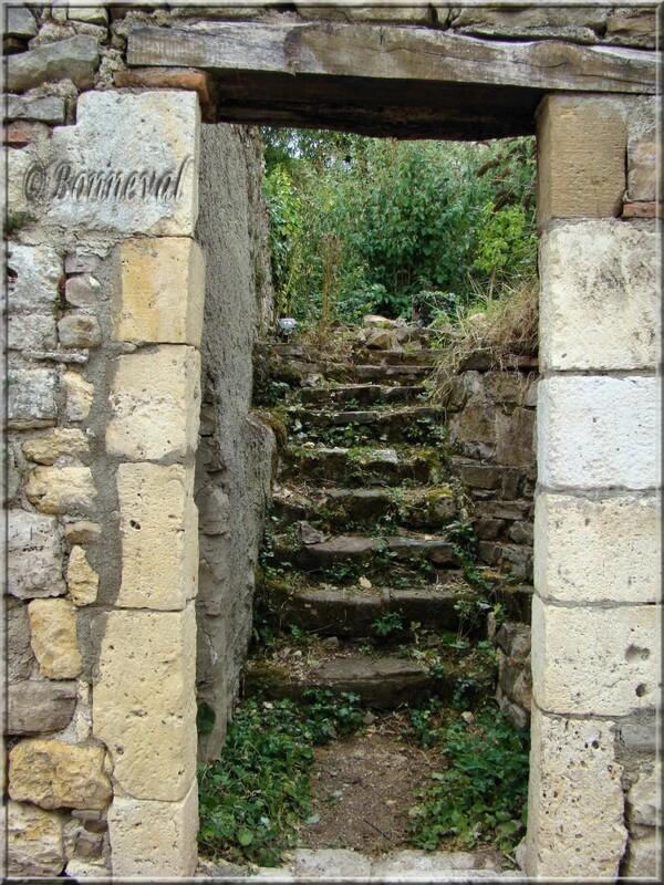 Cordes-sur-Ciel Tarn porte sans battant ouvrant sur un jardin sauvage