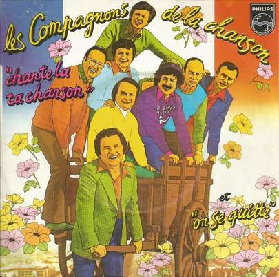 Les Compagnons de la Chanson avec leur ami québécois Lapointe...