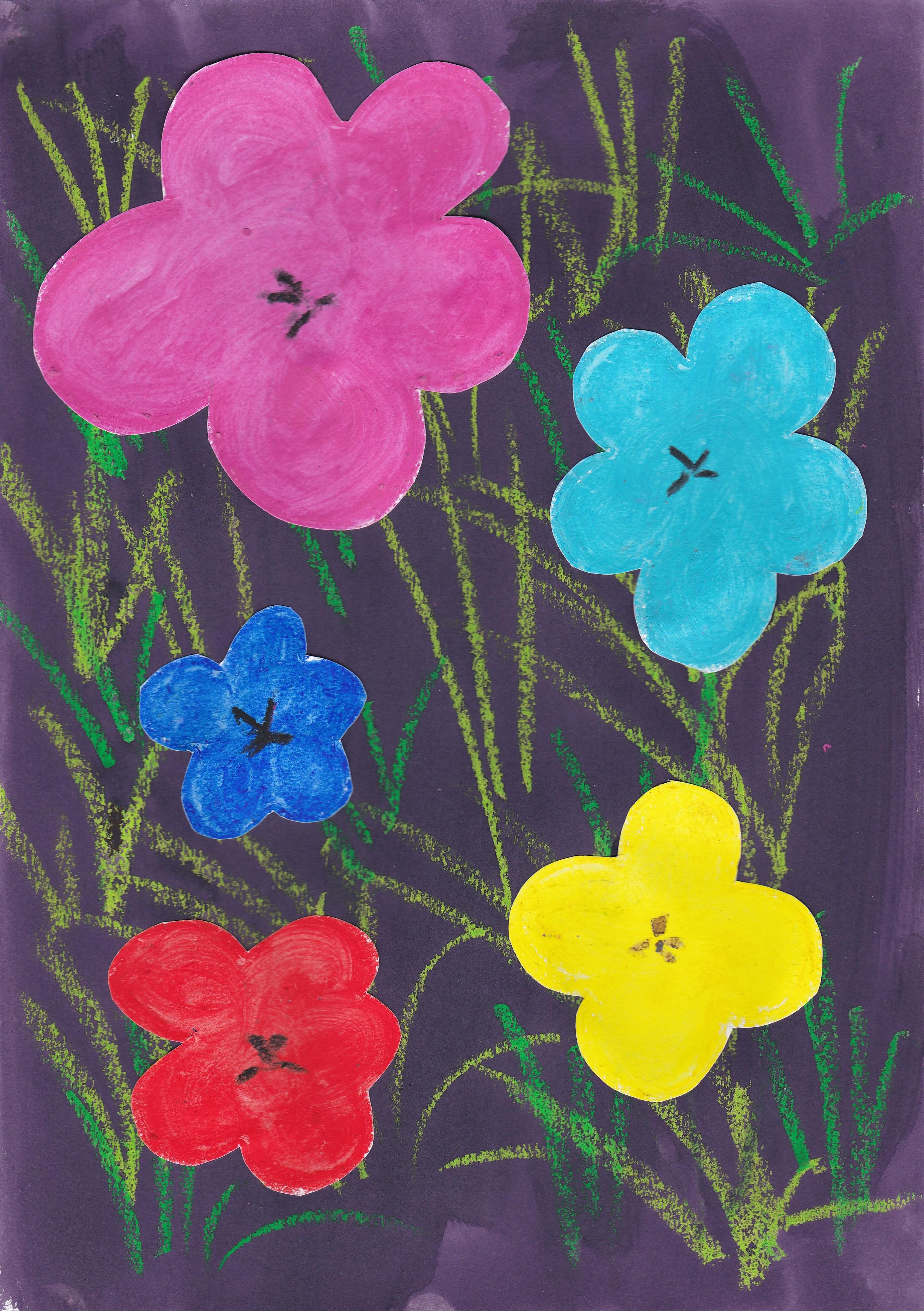 A la manière d\u0027Andy Warhol, les fleurs !