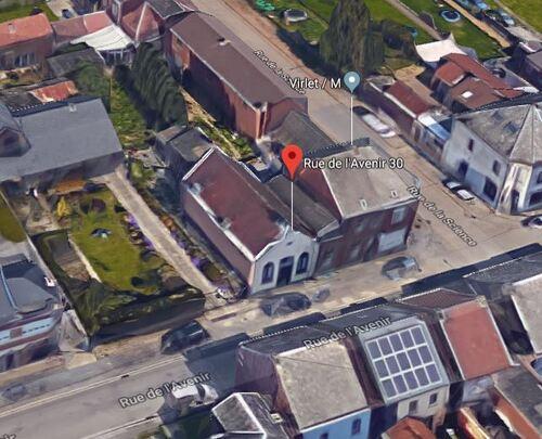 Souvret (Courcelles) - Rue de l'Avenir 30 (Google Satellite - Vue 3D)