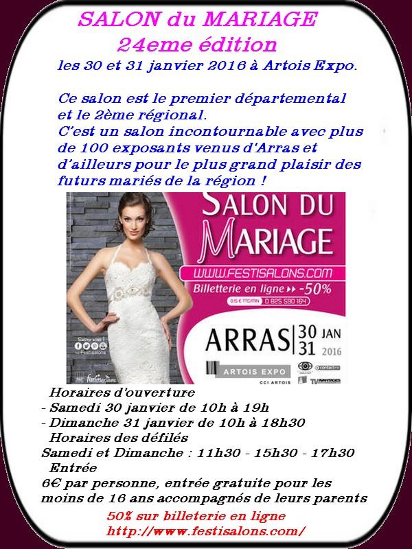 Salon du mariage, portes ouvertes, randos etc..ça se passe à Arras ce week-end.