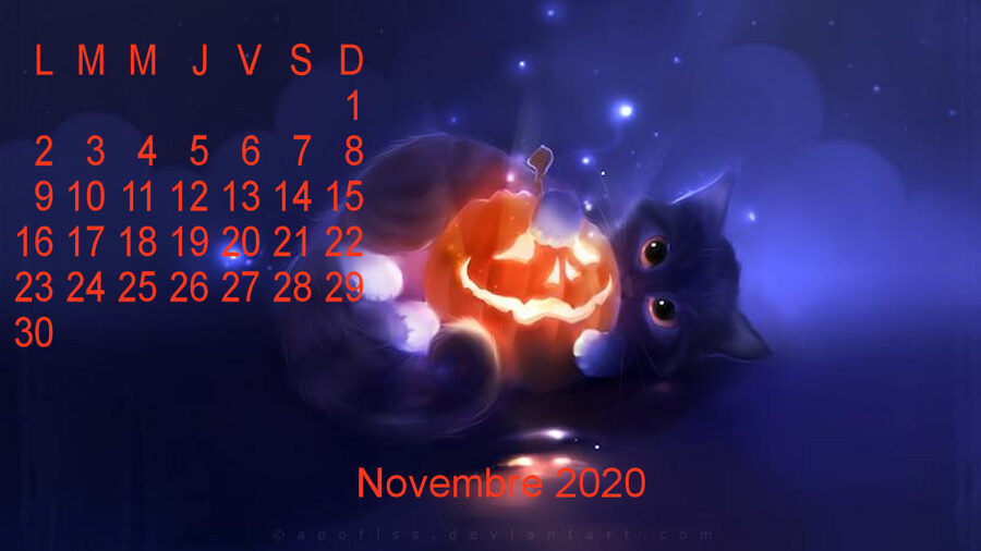 Calendrier fond d'ecran novembre