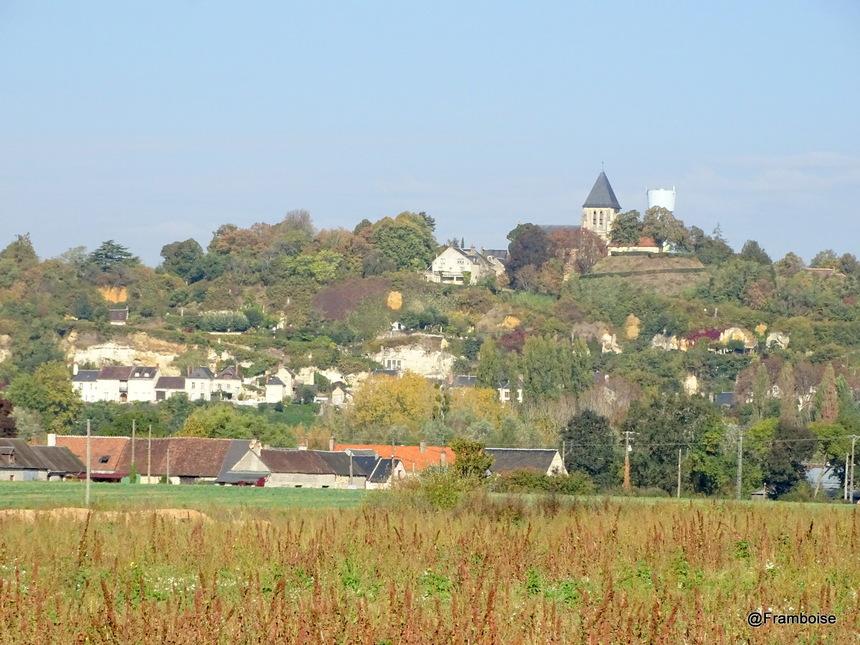 Trôo vu depuis l' Eglise de St Jacques des Guérets - Loir et Cher