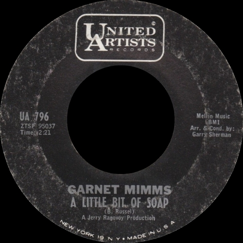 "Garnet Mimms : Album "" As Long As I Have You "" United Artists Records UAL 3396 [ US ]"