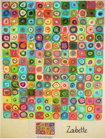 Des idées en graphisme période 3 : Les ronds