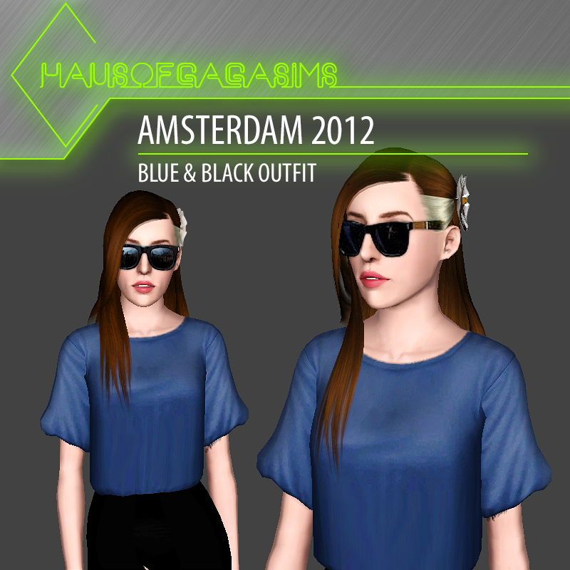 AMSTERDAM 2012 BLUE & BLACK OUTFIT