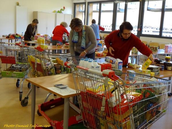 La collecte pour les Restos du Cœur de mars 2014