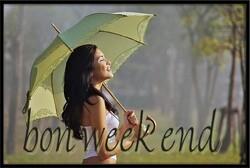 Micky - la coquine - vous souhaite un bon week-end ....
