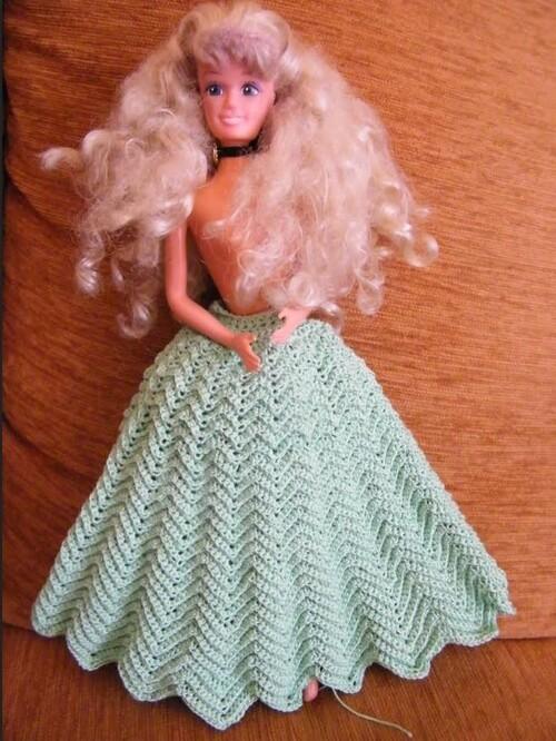 """Vos avancées pour le CAL de la robe Barbie """"Jade"""" (4)"""