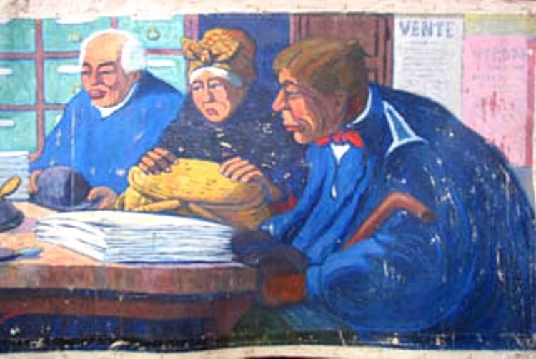 Chez le notaire, par Henri Gustave Jossot (1911)