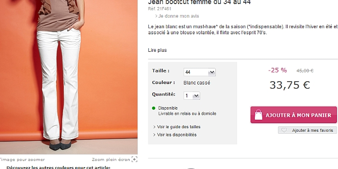 E-shopping fringue : 3 SUISSES VS Bonprix.