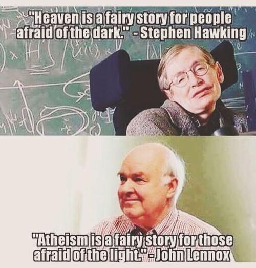 Atheism vs Heaven.