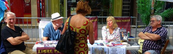 La Libre Pensée 04 tenait un stand au forum des associations de Digne les Bains