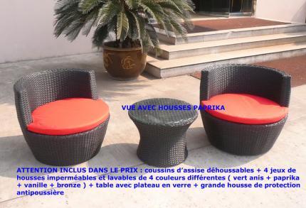fauteuil resine - salons et meubles de jardin