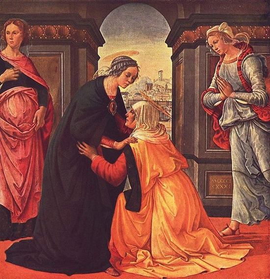 La Visitation de Marie à Elisabeth par Domenico Ghirlandaio en 1491