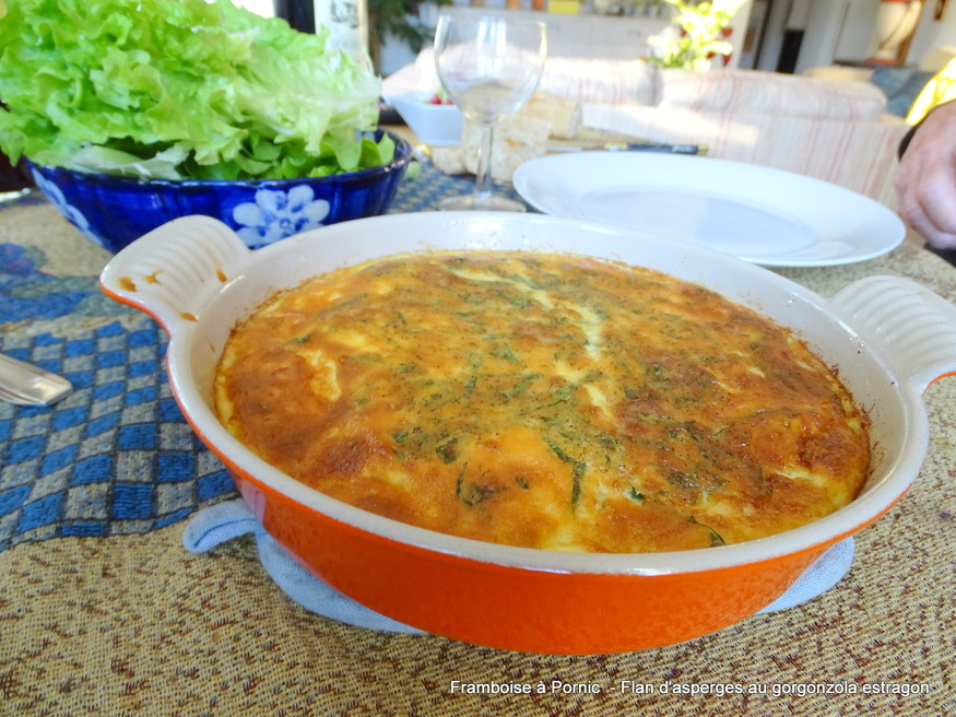 Flan d'asperges au gorgonzola