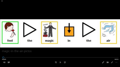 Magic in the air : karaoké en pictogrammes Arasaac