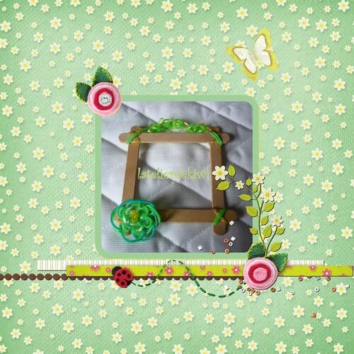 Cadre loom vert