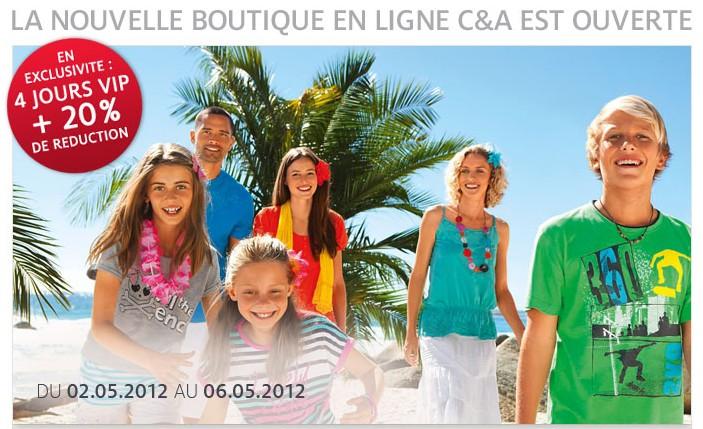 ღ C&A ouvre son e-shop belge!