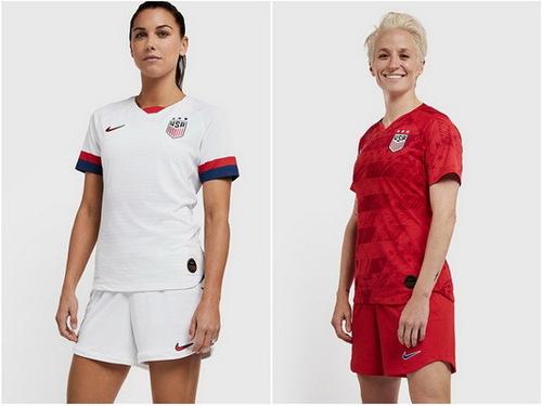 nouveau maillot equipe feminine Etats-Unis 2019